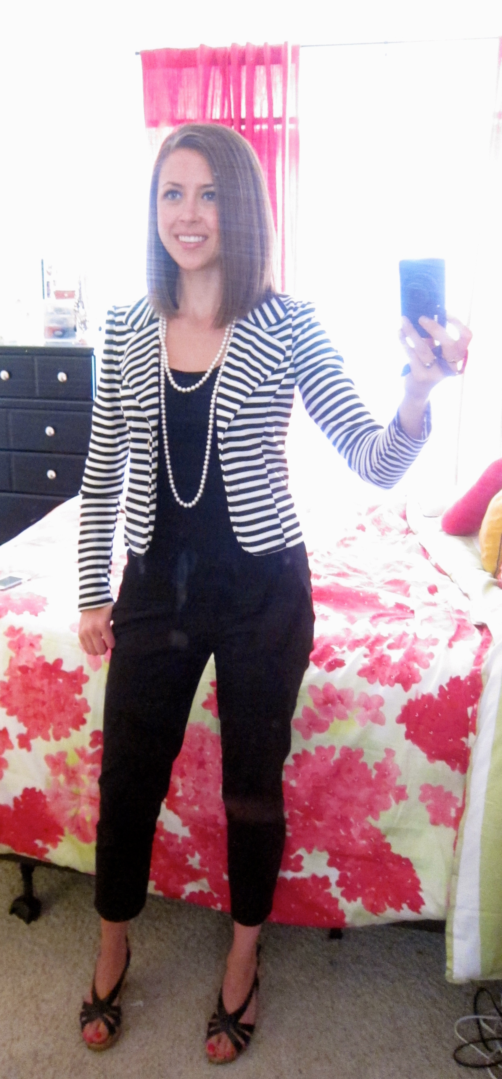 Black And White Striped Blazer Outfit Outfit Striped Blazer
